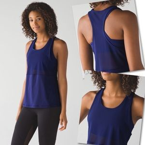LULULEMON BLUE FAST AS LIGHT 2-IN-1 TANK TOP SZ 6